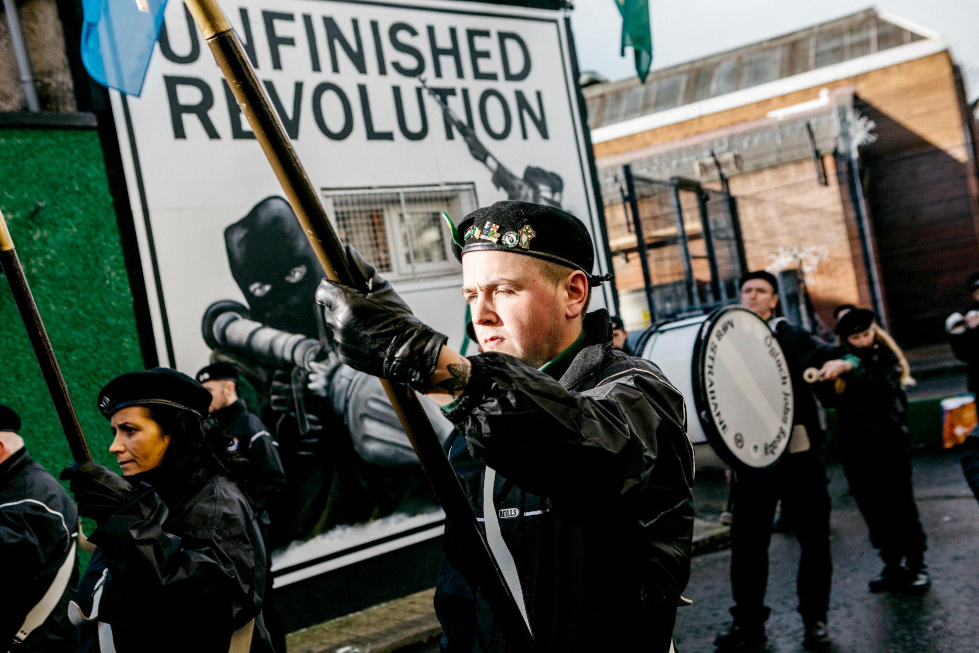 Rassemblement en soutien aux prisonniers politiques, Derry, novembre 2016.