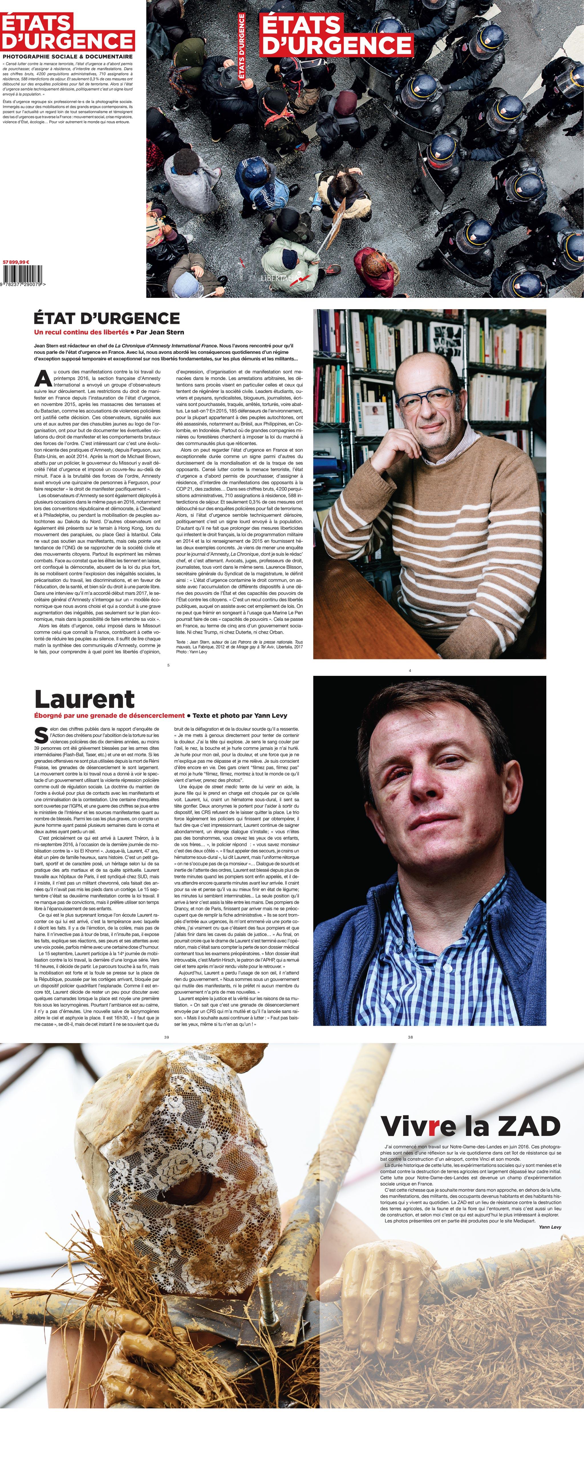 Etats d'urgence Revue de photographie sociale, Yann Levy