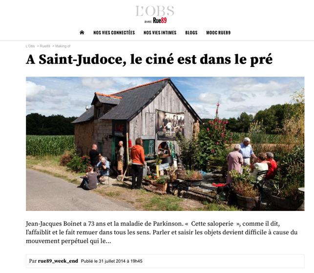 St Judoce Le ciné est dans le pré Rue89