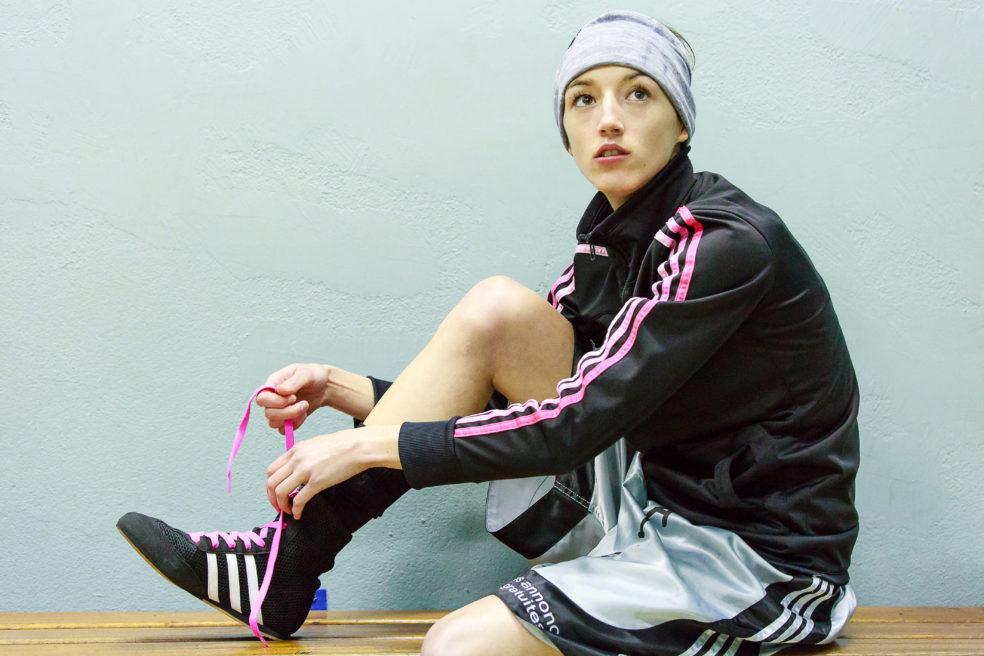 Justine Lallemand, championne de France de Boxe olympique