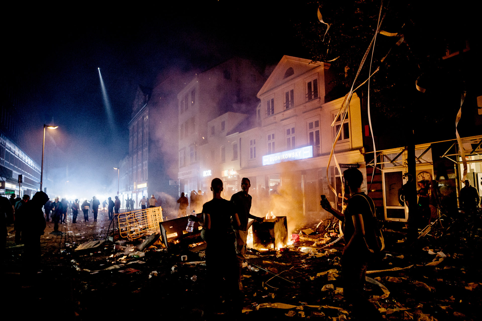 Nuit démeute à Sankt Pauli